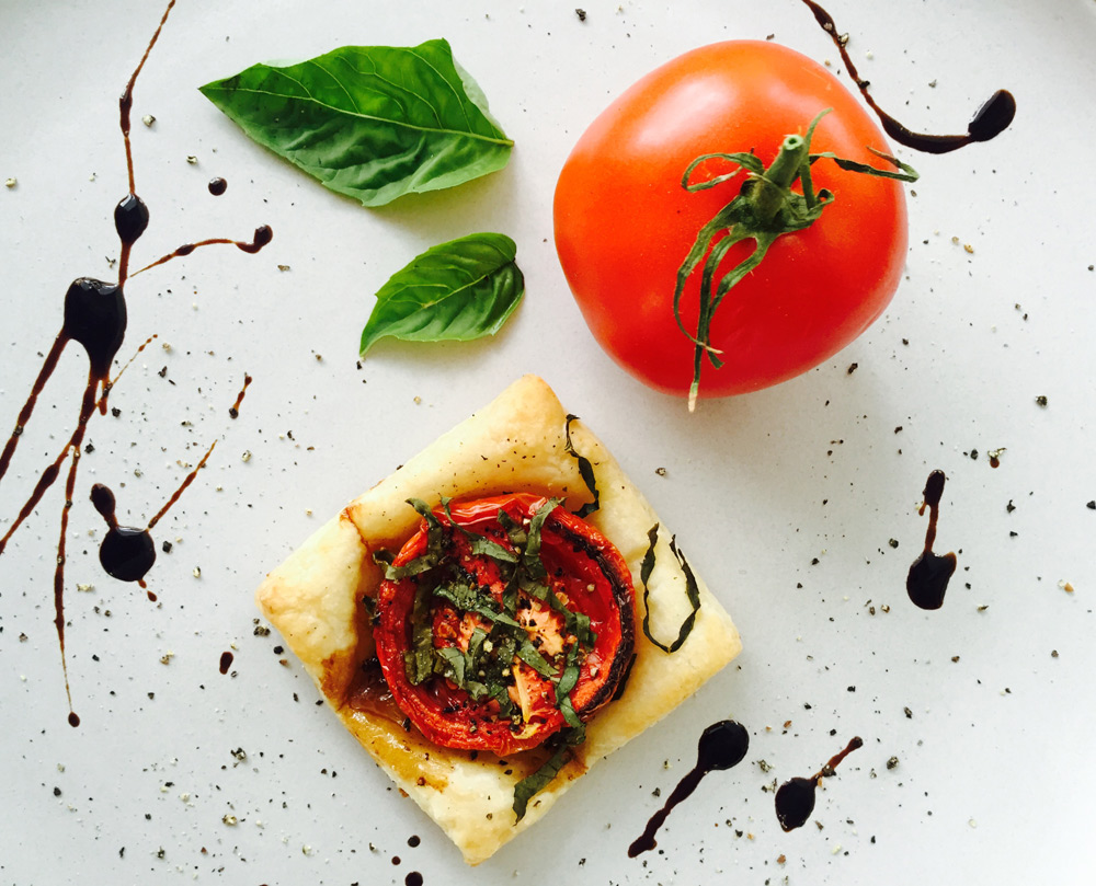 Tomato Tartlet Pastry Food Styling