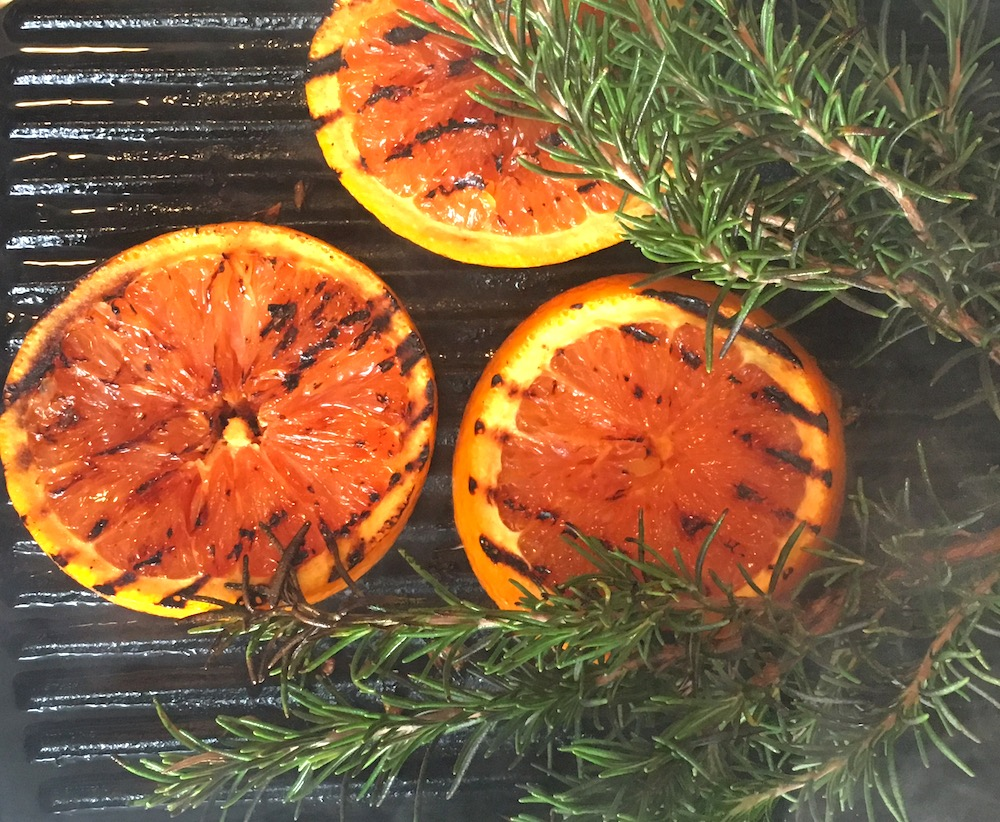 char grilled grapefruit