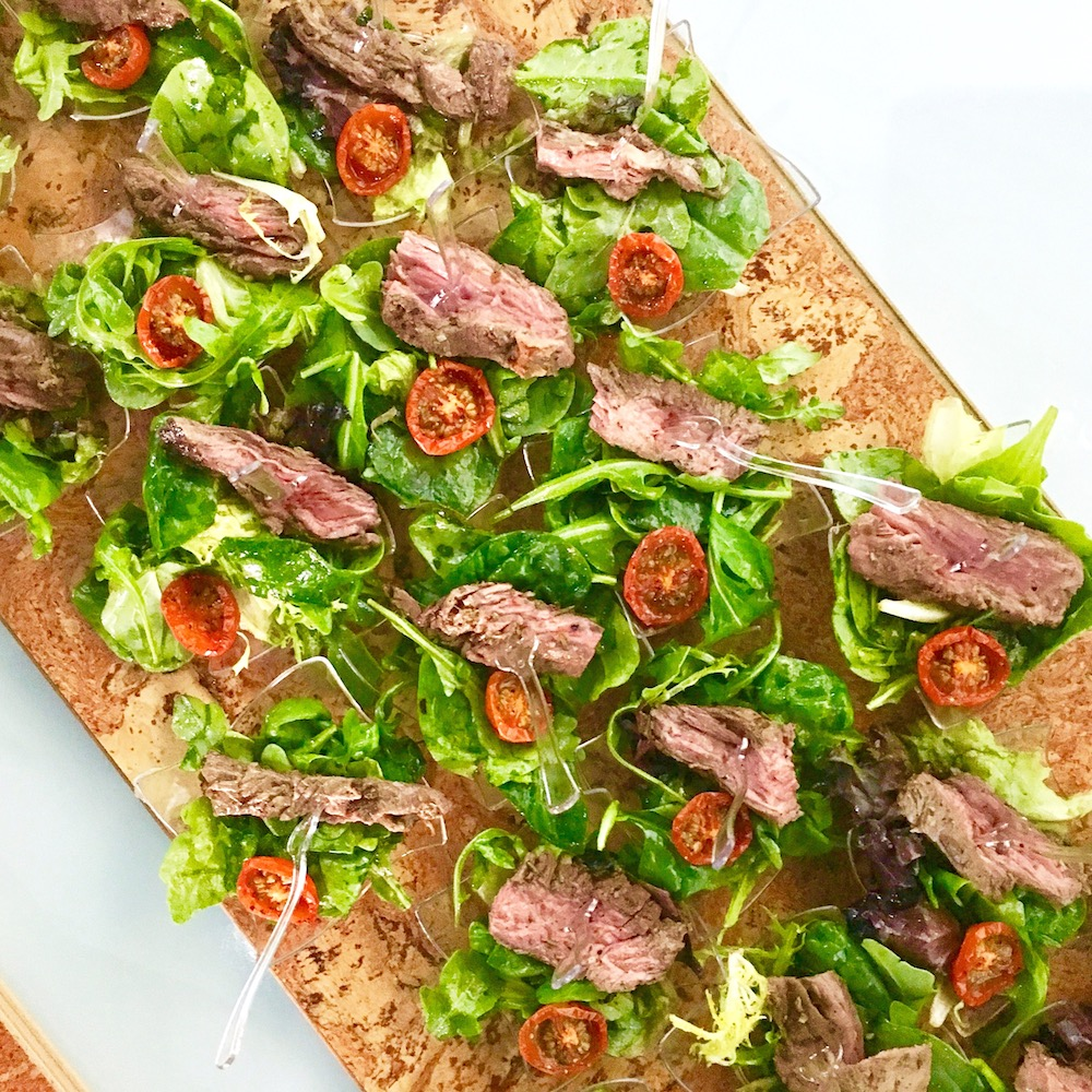 Individual-Seared-Steak-Salads-with-Dehydrated-Tomato-&-a-Basil-Dressing
