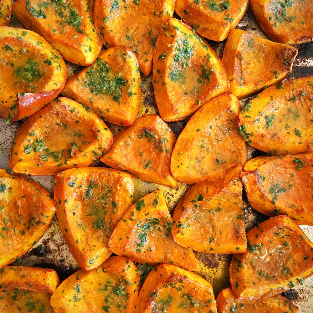Roasted-squash-with-celery-seed-onion-powder-and-brushed-with-garlic-parsley-butter